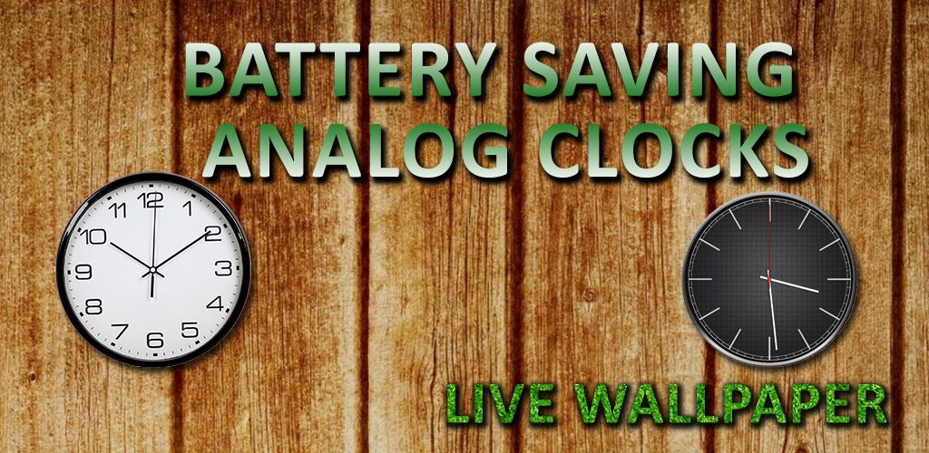 Battery Saving Analog Clocks