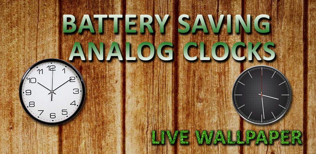 Battery Saving Analog Clocks Live Wallpaper Maxlab Android