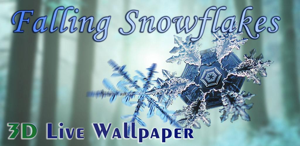 Падающие Снежинки 3D Живые Обои