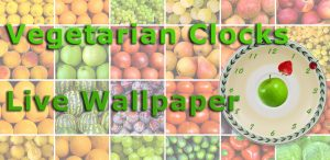 Vegetarian Clocks Wallpaper